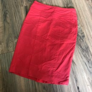 XOXO Red Pencil Skirt High Waisted
